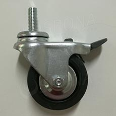 Kolečko průměr 60 mm, závit M10x15 mm, s brzdou, kov
