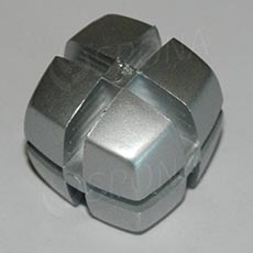 Kostka KUBIK 25 mm, pro sklo 4 mm, hliník
