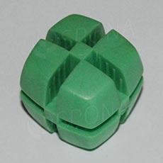 Kostka KUBIK 25 mm, pro sklo 4 mm, zelená