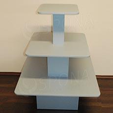 Gondola středová - pyramida P 09/12, boky 90 cm, výška 117 cm, stříbrná