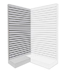Přístěnný rohový modul, SLAT FIX panel, 120 x 240 cm, bílá