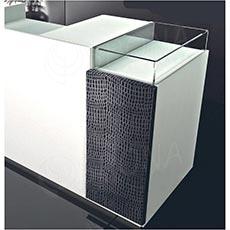 Pult prodejní UNO 160 x 70 x 100 cm, vysoký lesk, bílá barva