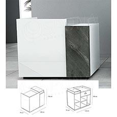Pult prodejní UNO 120 x 70 x 100 cm, vysoký lesk, bílá barva