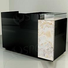 Pult prodejní UNO 160 x 70 x 100 cm, vysoký lesk, černá barva