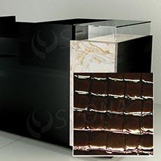 Čelní panel pro prodejní pult UNO, umělá kůže, hnědá