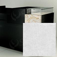 Čelní panel pro prodejní pult UNO, umělá kůže, bílá matná