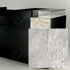 Čelní panel pro prodejní pult UNO, umělá kůže, beton