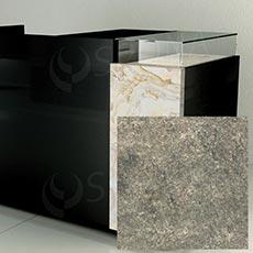 Čelní panel pro prodejní pult UNO, umělá kůže, přírodní kámen