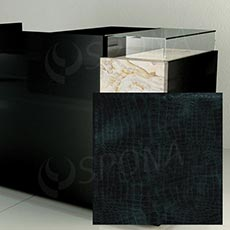Pult prodejní UNO - čelní panel, umělá kůže, černá