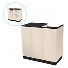 Pult pokladní BASIC 99, 1200 x 600 x 990 mm, světlé dřevo a černé LTD