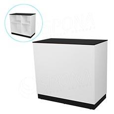 Pult prodejní BASIC 99, 1200 x 600 x 990 mm, bílé a černé LTD