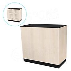 Pult prodejní BASIC 99, 1200 x 600 x 990 mm, světlé dřevo a černé LTD