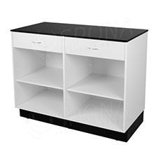 Pult prodejní BASIC 99, 2 zásuvky, 1200 x 600 x 990 mm, bílé a černé LTD