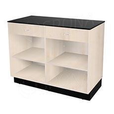 Pult prodejní BASIC 99 2 zásuvky 1200 x 600 x 990 mm, světlé dřevo a černé LTD