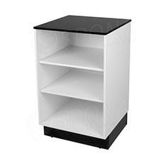 Pult BASIC 99 malý, 600 x 600 x 990 mm, bílé a černé LTD