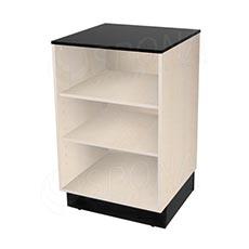 Pult BASIC 99 malý, 600 x 600 x 990 mm, světlé dřevo a černé LTD