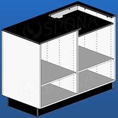 Pult pokladní BOX, 1200 x 600 x 940 mm, bílé a černé LTD