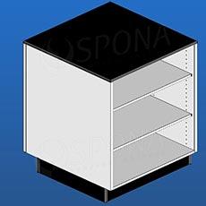 Pult BOX malý, 600 x 600 x 940 mm, bílé a černé LTD