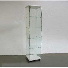 Vitrína Easy 40, sklo + LTD bílá, 40 x 40 x 171 cm
