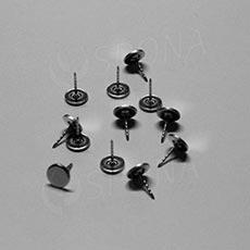 Bezpečnostní pin kovový, plochý vroubkovaný, 16 mm