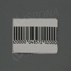 Papírová bezpečnostní etiketa 8,2 MHz, 50 x 50 mm, s čárovým kódem