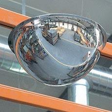 Zrcadlo kontrolní, 800/360 mm, polokoule